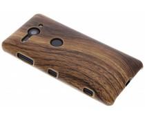Holz-Design Hardcase-Hülle Dunkelbraun Sony Xperia XZ2 Compact