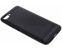 Schwarzer Brushed TPU Case Asus ZenFone 4 Max Plus