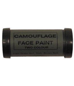 GB Camouflage gezichts schmink, 2 kleuren, groen-bruin