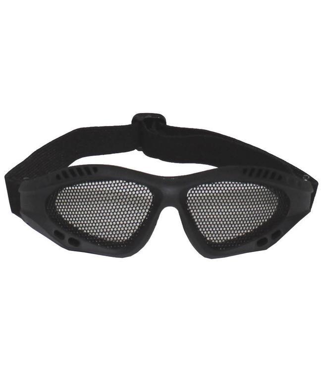 Airsoft Bril, steel mesh, Zwart, Deco
