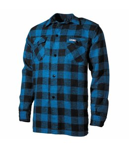 Shirt, lumberjack, Blaumet Zwart, checkered