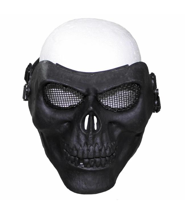 "Face masker, ""skull"", Zwart, deco"
