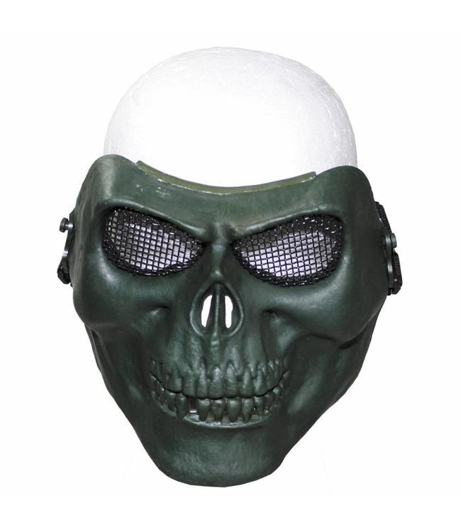 "Face masker, ""skull"", OD Groen, deco"