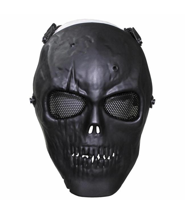 """Face masker, """"skull"""", Zwart, full protection, deco"""