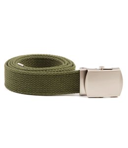 Tropenkoppel schuifriem met chrome buckle, 30mm Groen