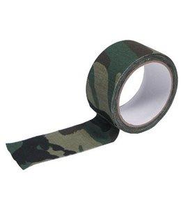 Fabric Tape, 5 cm x 10 m, woodland camouflage