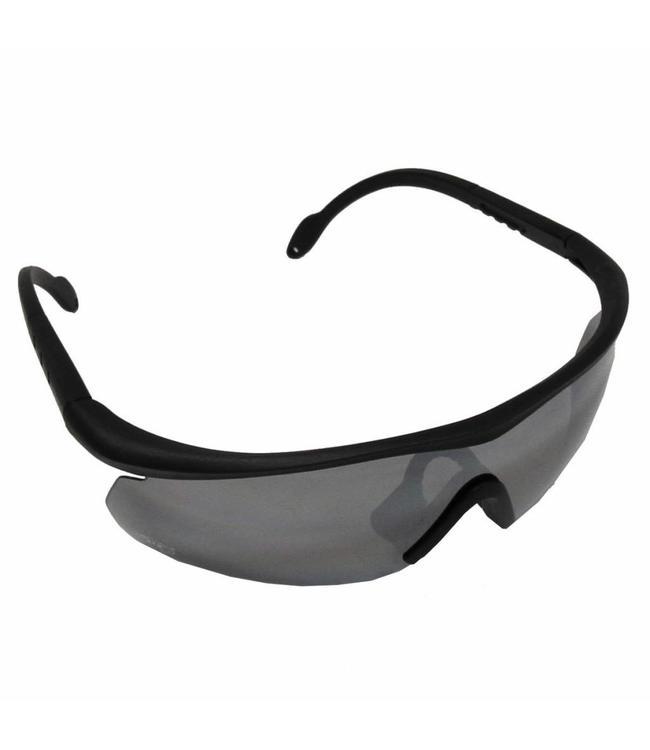 "Army Sports Bril, ""Storm"", Zwart, 3 extra glasses"