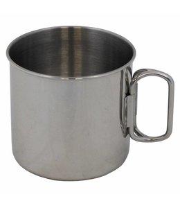 Beker, RVS, folding handles, 450 ml