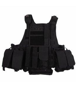"""Tactical vest """"Ranger"""" Modular, Zwart, 5 bags and pouches"""