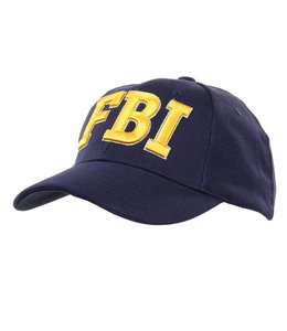 Pet (verstelbaar) FBI blauw (Gele letters)
