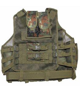 "Tactical vest, ""USMC"", met riem, holster, div. pouches, BW camouflage"