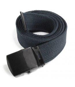 Tropenkoppel riem zwarte schuifgesp Buckle, 30 mm, Blauw
