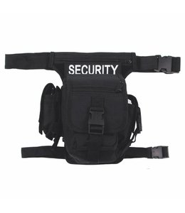 "Heuptas, ""SECURITY"", Zwart, leg- and belt fixing"
