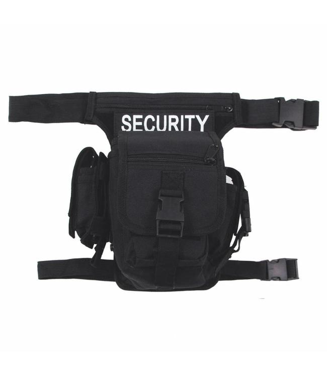 "Heuptas, ""SECURITY"", Zwart, leg- and belt fixing"