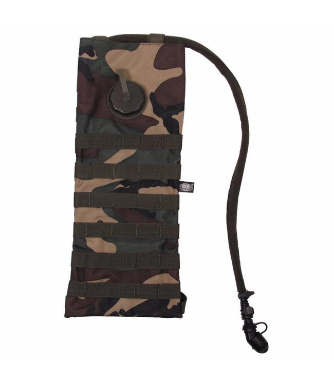 """Hydration Pack, """"Molle"""",met  drinking cup 2,5 l, woodland camouflage"""