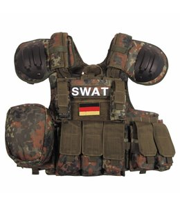 "Tactical vest ""Combat"", Mod., BW camouflage, bags and pouches, quick remove"