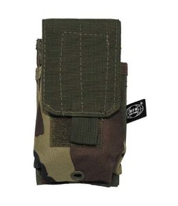 """Single Ammu Pouch, """"Molle"""", small, woodland camouflage"""