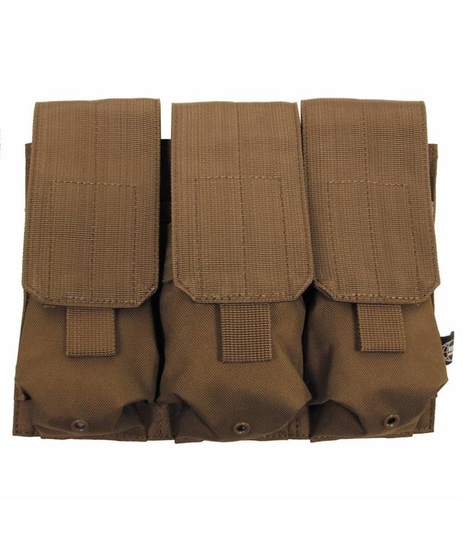 "Ammo Pouch, triple, ""Molle"", coyote tan"