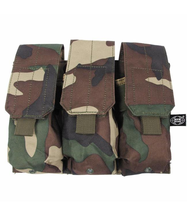 """Ammo Pouch, triple, """"Molle"""", woodland camouflage"""