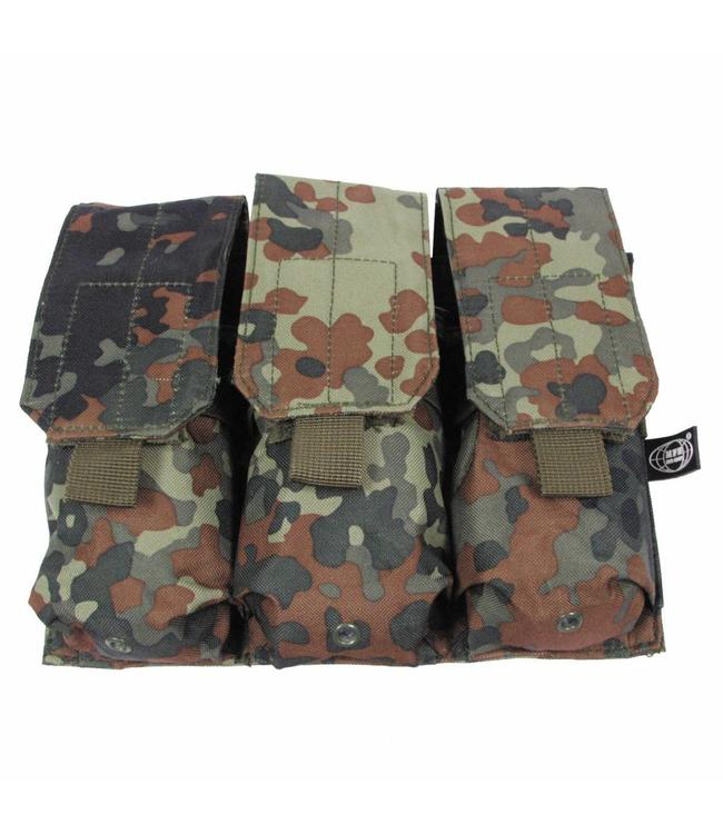 "Ammo Pouch, triple, ""Molle"", BW camouflage"