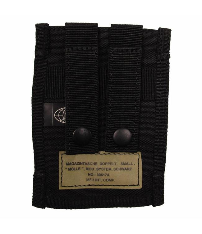 "Ammo Pouch, double, ""Molle"", small, Zwart"
