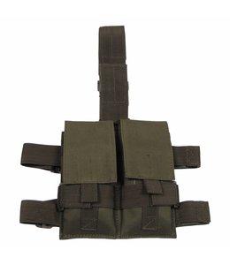 Tactical Been Pouch, OD Groen, voor 2 magazijnen