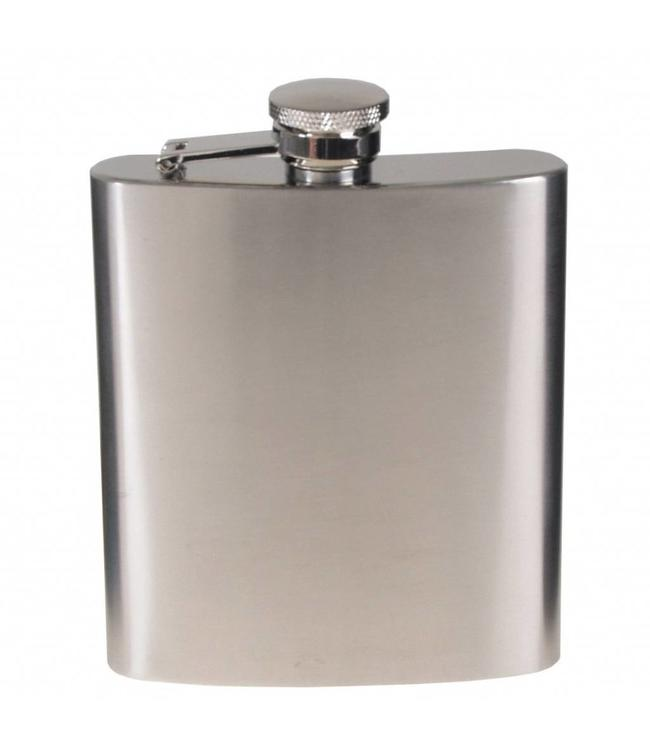 Flakon/zakfles RVS (veldfles), RVS, chrome matte, 225 ml