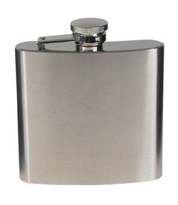 Flakon/zakfles RVS (veldfles), RVS, chrome matte, 170 ml