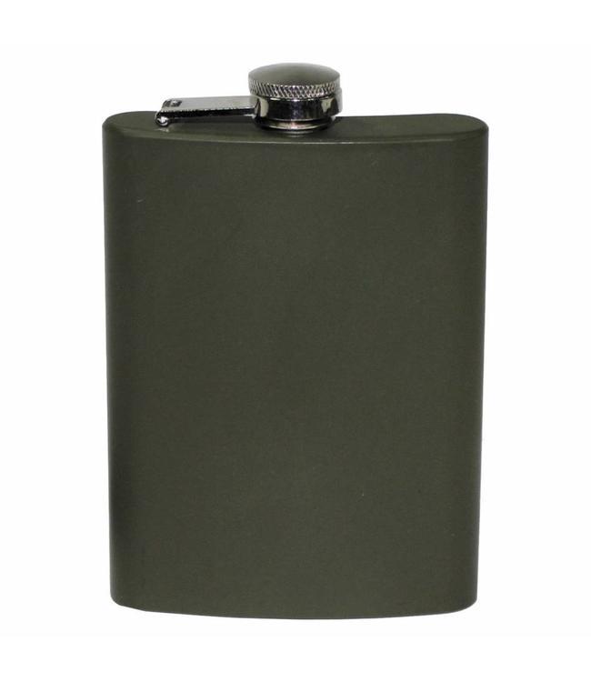Flakon/zakfles RVS (veldfles), RVS, OD Groen, 225 ml