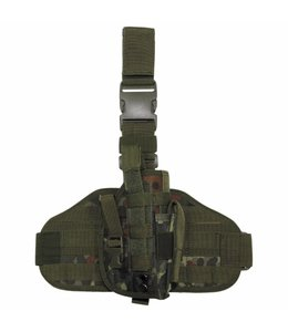 """Tactical Holster, """"Molle"""", leg- and belt fixing, BW camouflage"""
