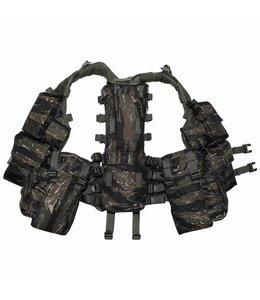 Tactical Vest, tiger stripe, met verschillende vakken