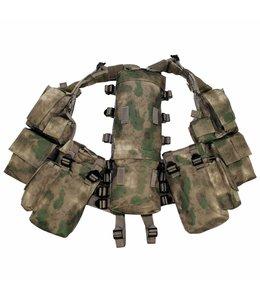 Tactical Vest, HDT camouflage Groen, met verschillende vakken