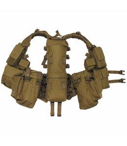 Tactical Vest, coyote tan, met verschillende vakken