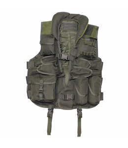 Tactical Vest, with leder, OD Groen