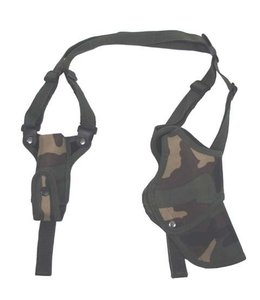 Schouder Holster, woodland camouflage, right