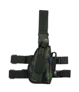 Tactical Holster, M95 CZ camouflage, leg- and belt fixing, right