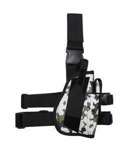 Tactical Holster, snowcamouflage, leg- and belt fixing, right