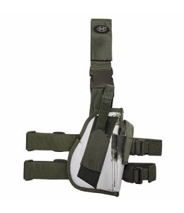 Tactical Holster, winter camouflage, leg- and belt fixing, right
