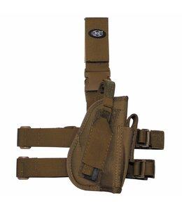 Tactical Holster, coyote tan, leg- and belt fixing, right