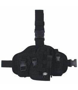 Tactical Holster, Zwart, leg- and belt fixing