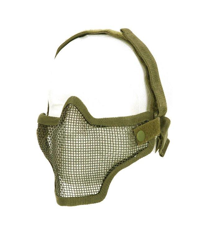 Airsoft metal mesh masker Zandkleur