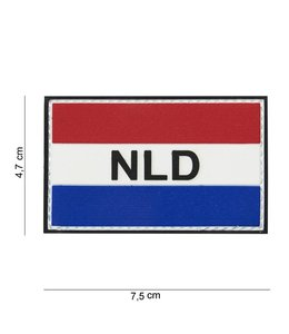 Embleem (patch) 3D PVC NLD red/white/blue