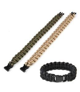 Paracord armband K2015 8 inch Zwart