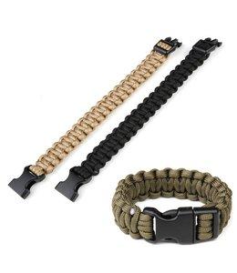 Paracord armband K2016B 9 inch Zwart