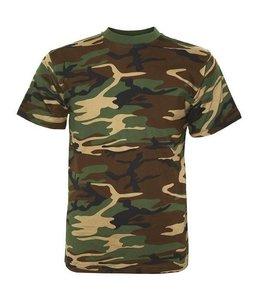 T-shirt camo Woodland camo
