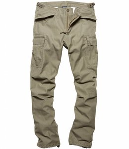 Vintage Industries M65 heavy satin pants olive cargo broek