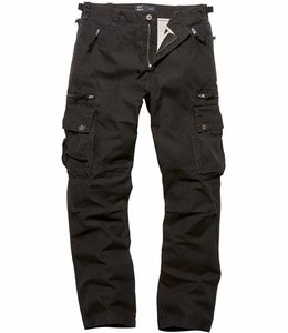 Vintage Industries Rico pants black cargo broek