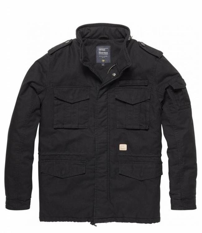 Vintage Industries M65 padded parka winterjas black