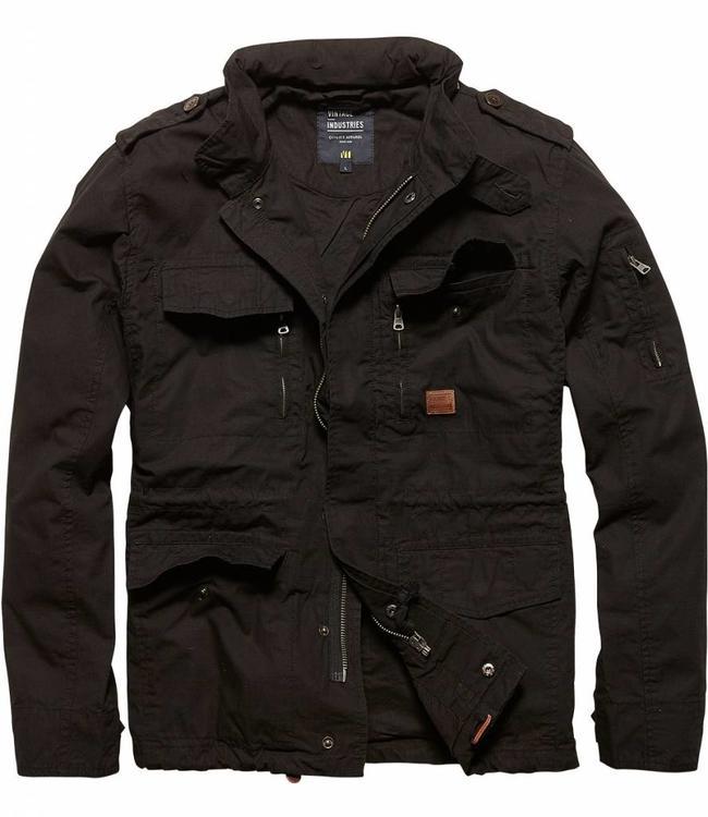 Vintage Industries Cranford jacket leger zomerjas black