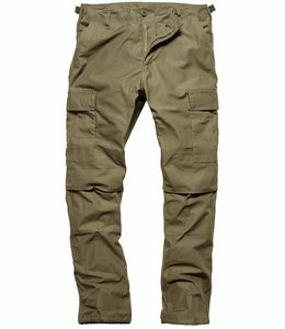 Vintage Industries BDU pants olive cargo broek